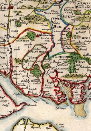 Meon Valley map 1695