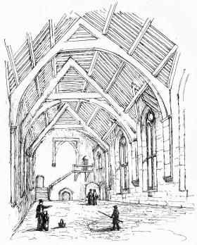Stokesay_Castle_hall,_1868