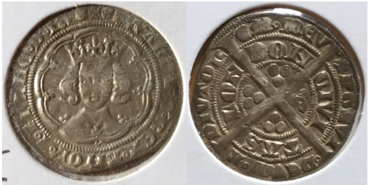 Edward III groat front and back